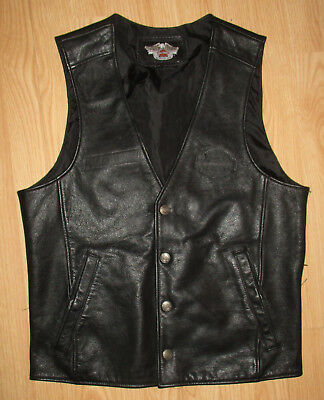 Harley Davidson Black Leather Vest