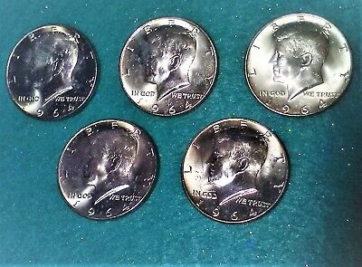 1964 (P) MINT Silver Kennedy Half Dollars, 50 cent discount per extra purchase!