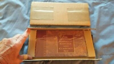 """1993 Thomas Jefferson Coinage And Currency """"sealed Set"""" """"rare Star Note"""" ?"""
