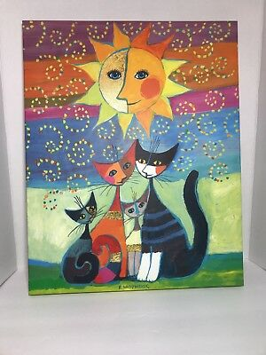 Cute Cat Canvas Print Wall Art Picture  Rosina Wachtmeister