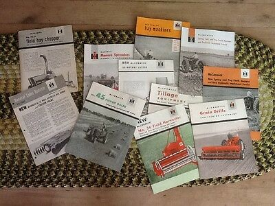 I H Mccormick Farm Equipment Advertising Brochures and Flyer 1949-1959