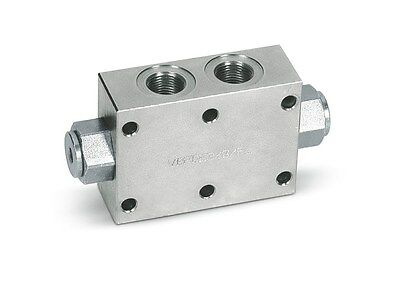 Dual pilot operated poppet hydraulic check valve G 1/2""