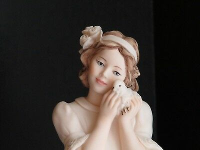 Giuseppe Armani Peace Figurine Girl with Dove