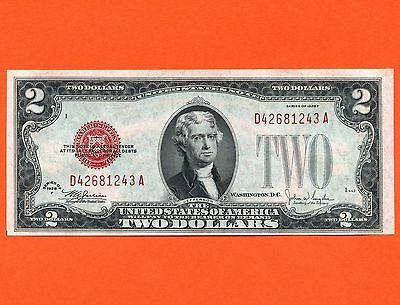 1928 United States 2 Dollar Uncirculated Bank Note S/N D42681243A