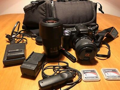 Sony Alpha A300 DSLR complete kit w/ 18-70mm and 75-300mm