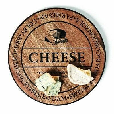 NEW S & P Fromage 40cm Round Wooden Cheese Board