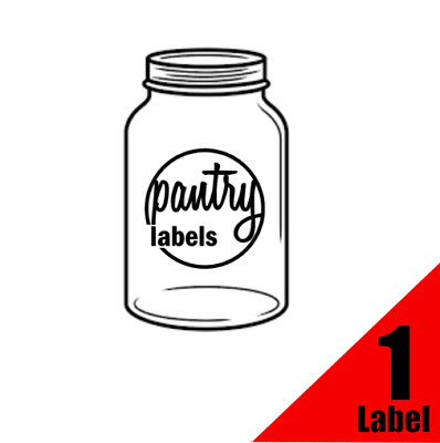Kitchen, Food, Pantry Labels, Stickers, Decals - Individual
