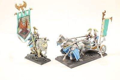 Pro Painted Warhammer AoS High Elves Chariot and Nobel