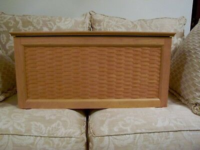 "Longaberger Baskets, ""woven Panel Chest"", Very Rare, Retired"
