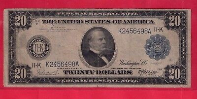 ***  1914  $20.00 Fed Res Note From Dallas   ***
