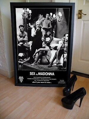 Madonna Sex Book Promo Posters X 2,virgin,fashion,nude,naked,book,steven Meisel