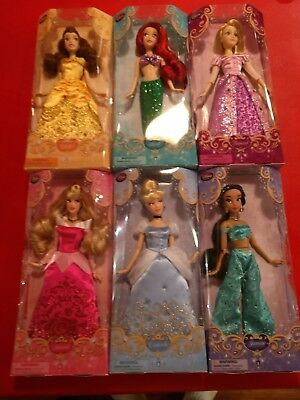 [New In Box] Disney Store Princess (6) Dolls Classic Collection Belle and more!