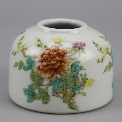 Chinese old porcelain famille rose  glaze flower  pattern writing-brush washer