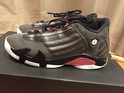 2014 Youth Nike Air Jordan XIV 14 Hyper Pink Black Grey White Size 7Y Used Rare