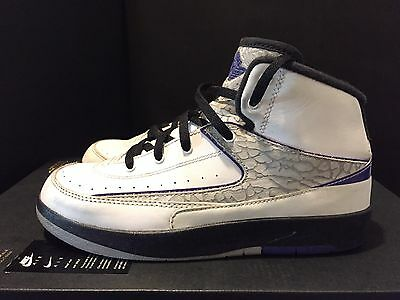 2014 Youth Nike Jordan II 2 Concord Black White Grey Size 2Y Used NDS Rare