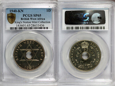 1940-KN British West Africa Penny PCGS SP65 - Ex. Rare Kings Norton Mint Proof