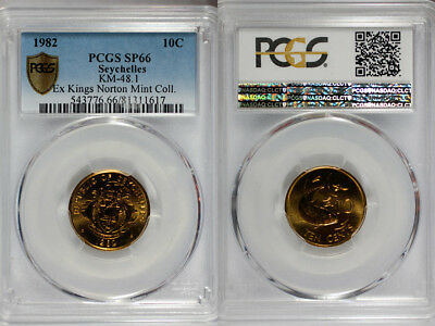 1982 Seychelles 10c PCGS SP66 - Extremely Rare Kings Norton Mint Proof