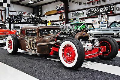 1930 Ford Model A  FORD RAT ROD TURN HEADS UNIQUE CUSTOM FABRICATED THROUGHOUT WOW
