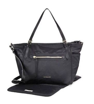 Burberry Leather-Trim Black Canvas Diaper Bag - New with tags!