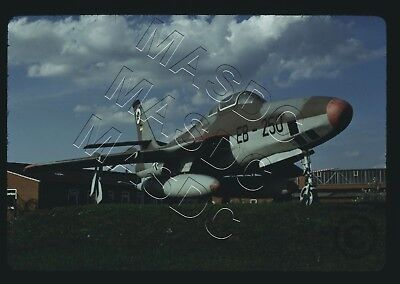 35mm Kodachrome Aircraft Slide - RF-84F Thunderflash EB-250 GAF @ Leck - Sept 74