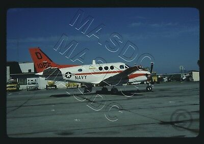 35mm Kodachrome Aircraft Slide - Beech T-44A BuNo 161066 @ Miramar on 25Jan1981