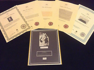 Authentic JUDY GARLAND Wizard of Oz HairLock Photo Provenance Certified COA