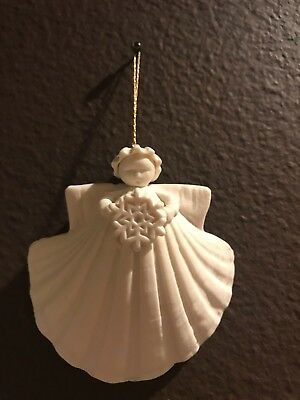"""Margaret Furlong 3"""" Shell Angel Ornament With Snowflake"""