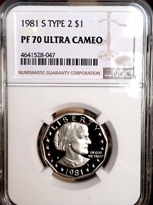 1981-S Type 2 Susan B. Anthony NGC PF 70 Ultra Cameo * Price Guide $860 - Rare *