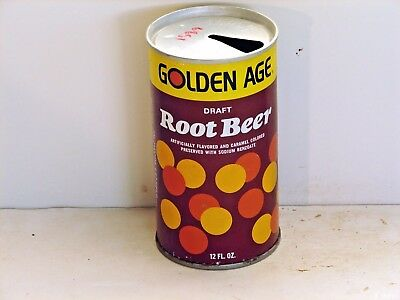 Golden Age Root Beer; Golden Age Beverage Co.; Akron, OH; steel soda pop can