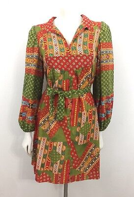 Vintage 70s Dress Hippie Boho Patchwork Mini Dress San Francisco Babydoll Mr. B