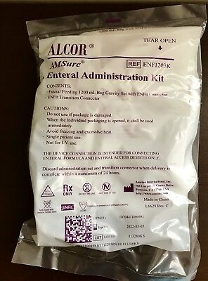 Alcor AMSure Enteral Administration Kit 1200 mL Ref ENF1203K 3 new bags