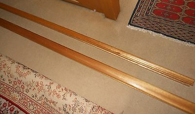 Victorian Ash Timber Wooden Stairs Hand Rail~ 2 Pieces 3.85 & 2.70 = 6.56 M Long