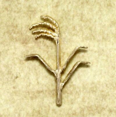 Rice Jewelry Rice Brooch Rice Pin, Medium 14kt Gold Rice Stalk Brooch, Rice Tie