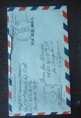 Usa Ww2 Military Mail 1945 Stamp Cover Sent From Combat Zone Belgium