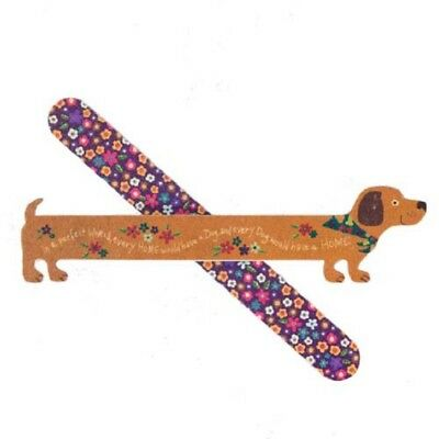 Dachshund Dog Shaped & Flower Print Nail File Set / Emery Boards