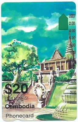 Extremely Rare  $20 Cambodia Prefix 1565 Telstra Phonecard. Few Known