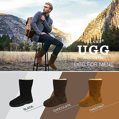 2019 New Premium Wool UGG Mens Classic Outdoor Ankle-Medium/High Long Boots