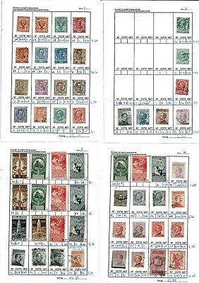 #762 Italy Italia 18.. collection hinged to leaves x4 + Cartolina Postale x9