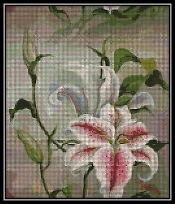 White Lilly - Cross Stitch Chart/Pattern/Design/XStitch