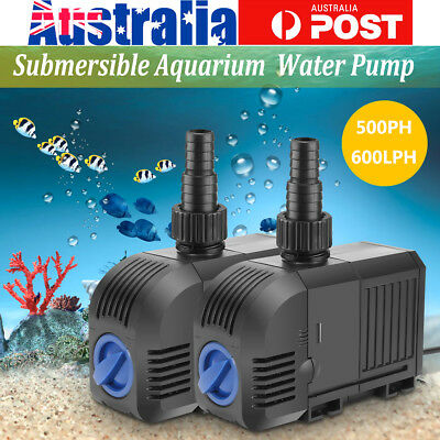 500/600LPH Submersible Aqua Aquarium Fountain Pond Marine Fish Tank Water Pump