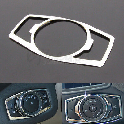 Car Head Fog Light Switch Button Cover Trim Sticker Chrome For Ford Focus 12-16