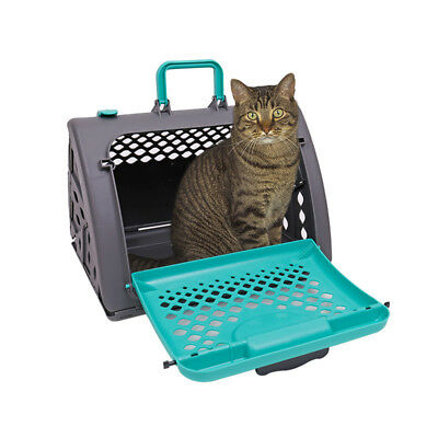 Pop-up Cat Dog Kennel Carrier Cage Safe Sturdy Pup Crate Outdoors Ventilated Bag