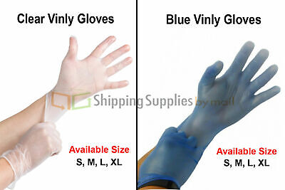 Vinyl Disposable Gloves Powder Free (Non Latex Nitrile Exam) S, M, L and XL