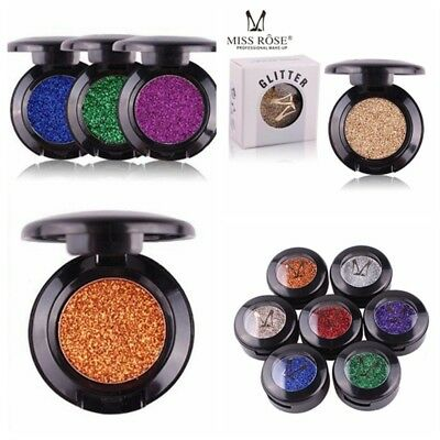 2018 Pro Makeup Glitter Eye Shadow Pigment Silver Gold Shimmer Eyeshadow New