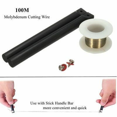 100M Phone LCD Glass Screen Separating Molybdenum Cutting Wire +Stick Handle Bar