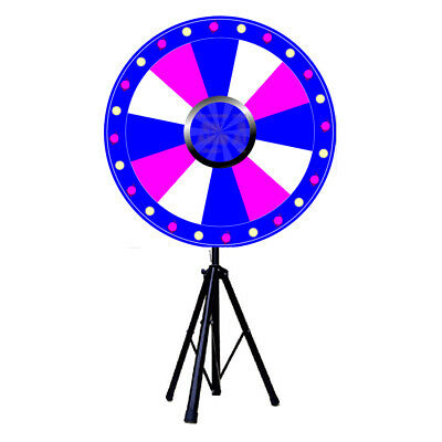 """24"""" Editable Dry Erase Prize Wheel of Fortune Spinning Game Casino Event Party"""