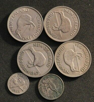 New Zealand Pre-Decimal Florins, Sixpence And Threepence