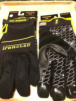 IRONCLAD Box Handler Silicon Fused Palm High Grip Safety Work Gloves S M L XL