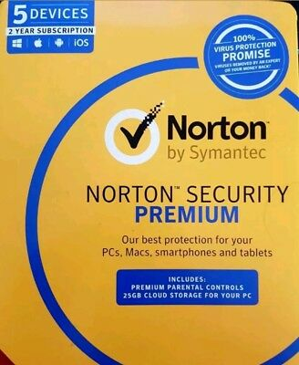 Norton Security Premium Multi Device / 5 Device 2 YEARS