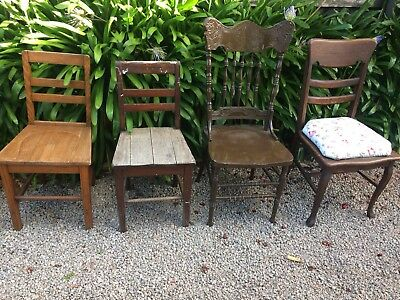 Four Vintage Chairs.